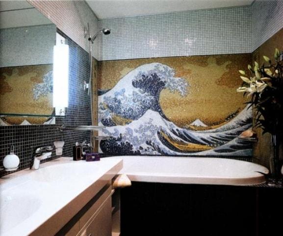 панно из мозаики для ванной комнаты фото