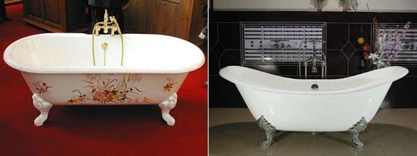 Фото: средние чугунные ванны