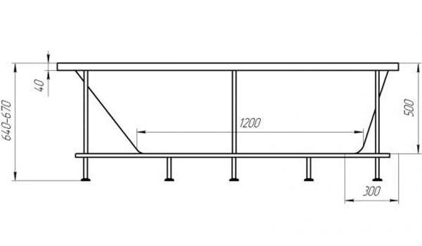 Фото: европейский стандарт ванн прямоугольной формы