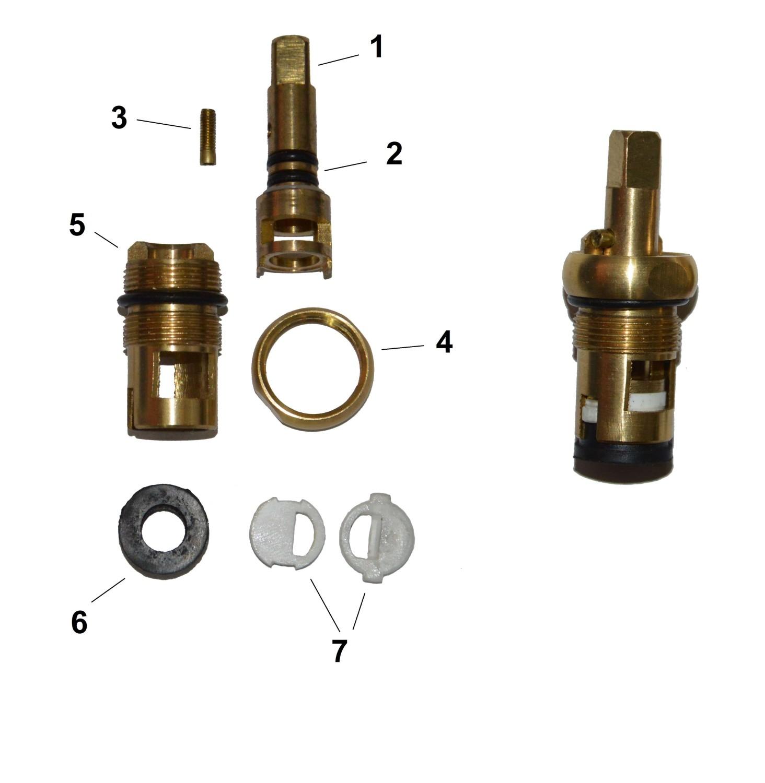 Схема кран букса в смесителях