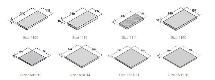 размер плитки