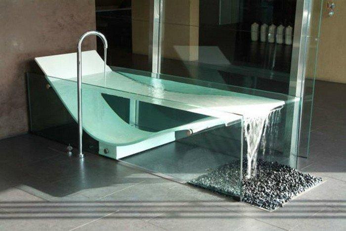 стеклянная ванна фото