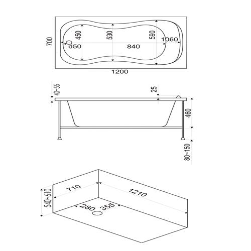 акриловая ванна стандарт