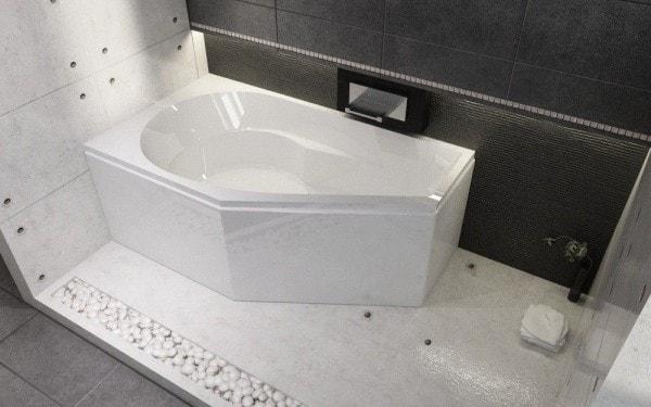 акриловая ванна асимметричная