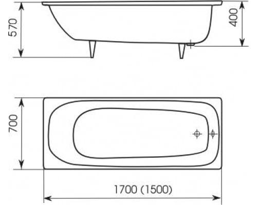 ванны стандартные размеры