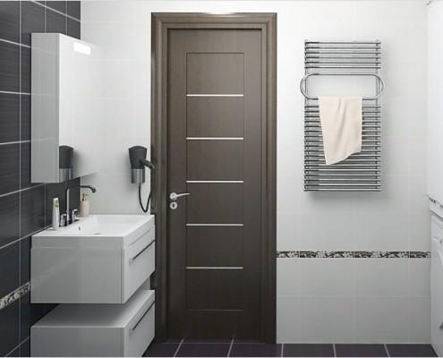 двери в ванную и туалет из мдф