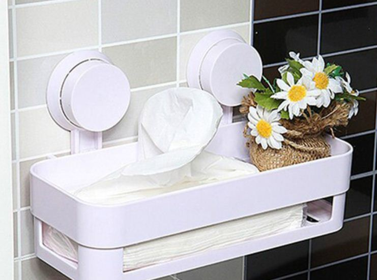 Пластиковые полки для ванной комнаты
