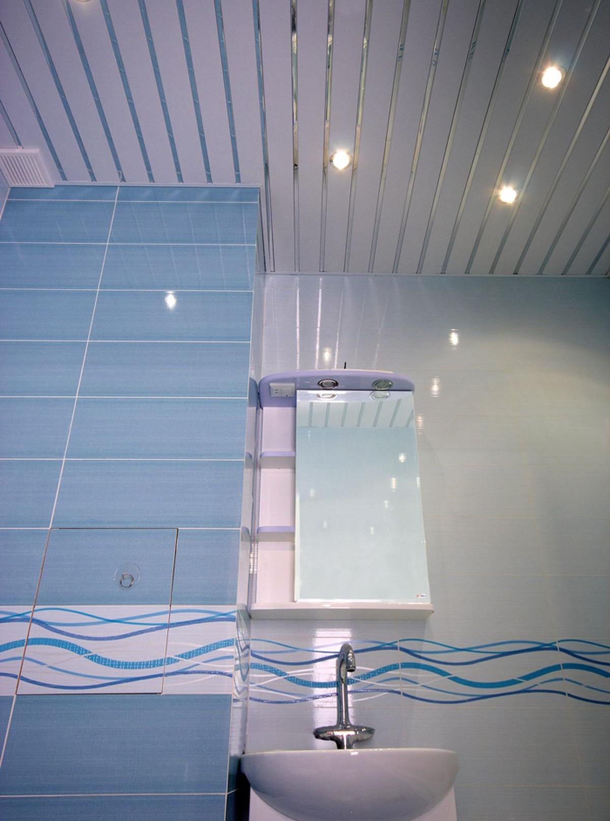 Реечные потолки для ванной установить своими руками