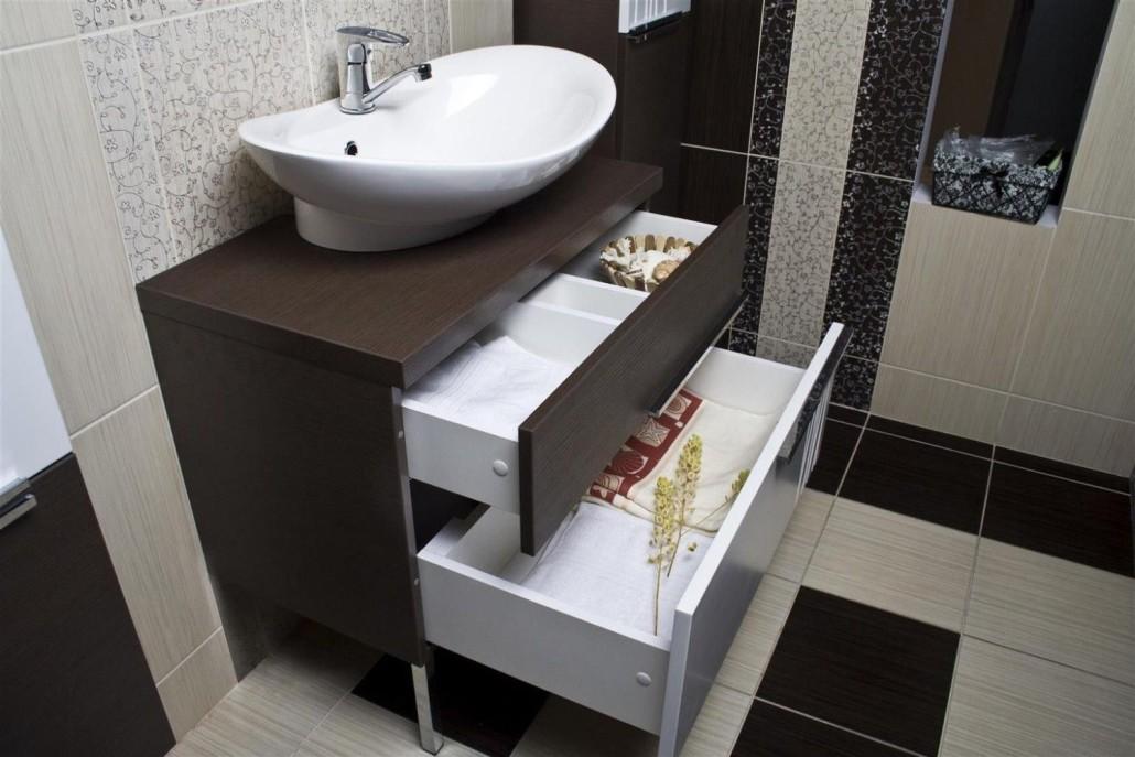 раковина с тумбой в ванную