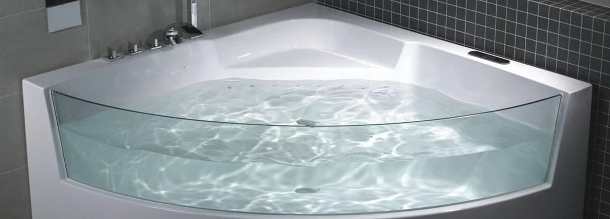 Угловые асимметричные ванны 84 фото размеры акриловых изделий 170х90 и 120х120 150х90 и 120х90