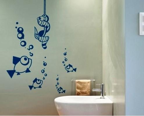 наклейки в ванную для детей