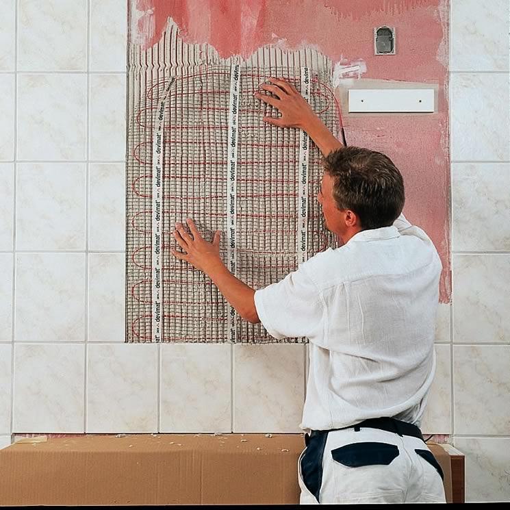 Монтаж кабельной системы обогрева зеркала