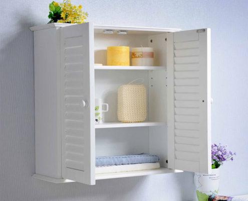 Как выбрать шкаф навесной в ванную комнату