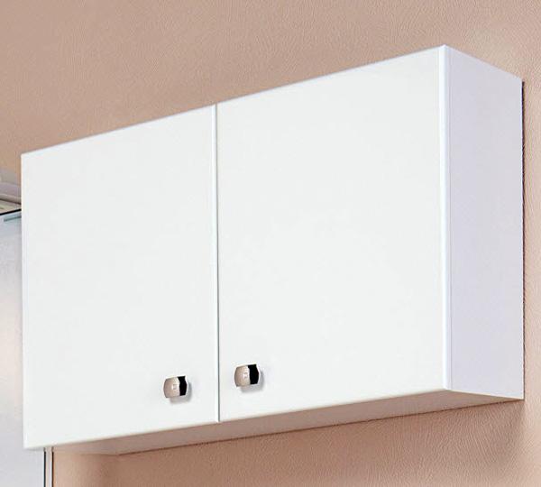 Горизонтальный навесной шкаф для ванной фото