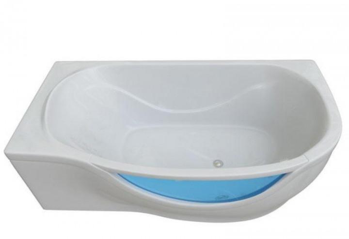 Акриловая ванна Тритон Милена со встроенным стеклом 170*94 правая