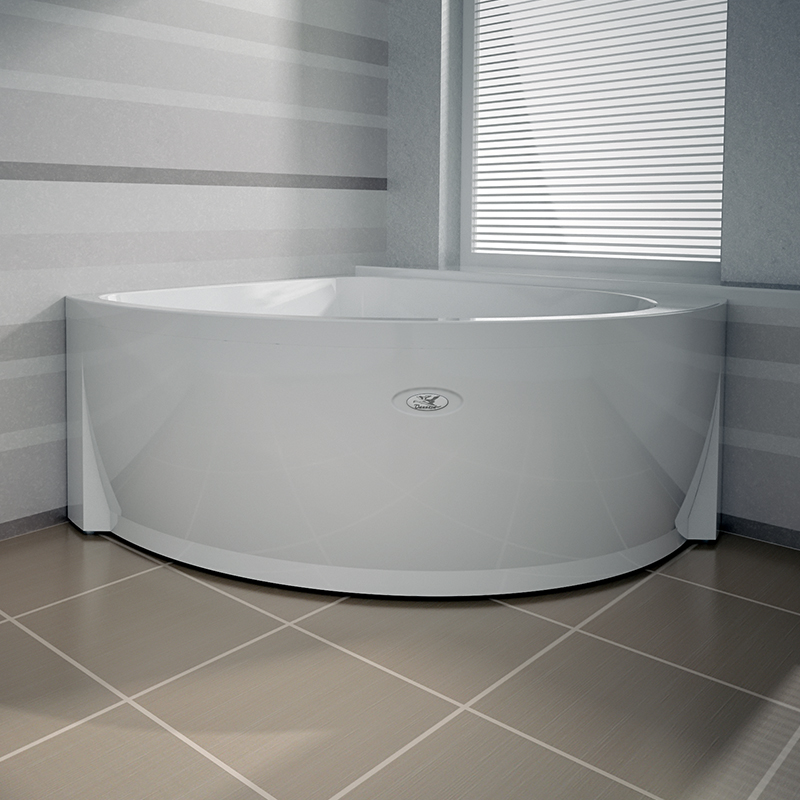 современная равносторонняя угловая ванна из акрила «Эмилия»