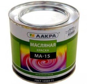 Краска Лакра МА-15 Масляная на льняном масле 25 кг синяя