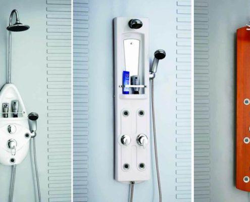 Основные виды душевых панелей для ванной комнаты