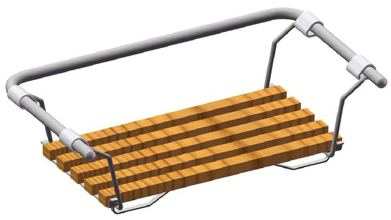 Деревянное сиденье для ванны