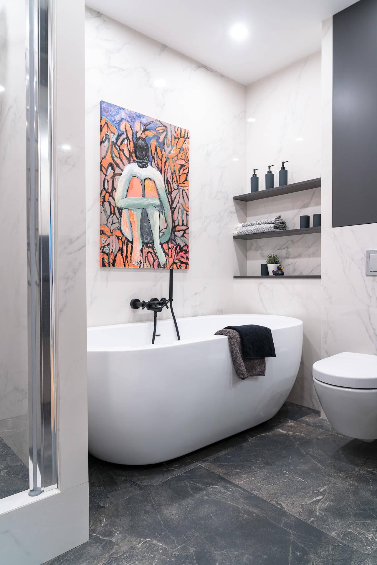 Ванная комната в современном стиле в Питере