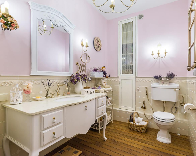 Милейший дизайн ванной в духе прованс