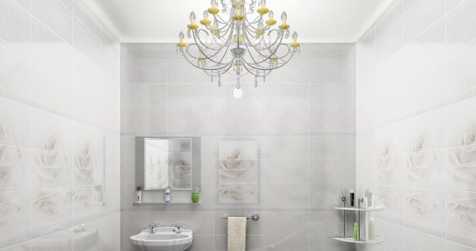 Ванная комната, облицованная плиткой валенто (Valentto)