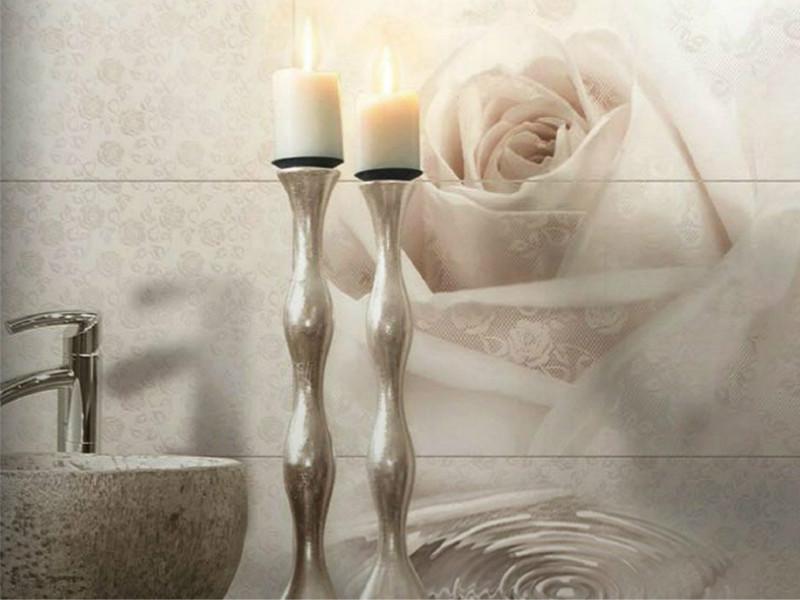Дизайн ванной комнаты с плиткой валенто (Valentto) Роза