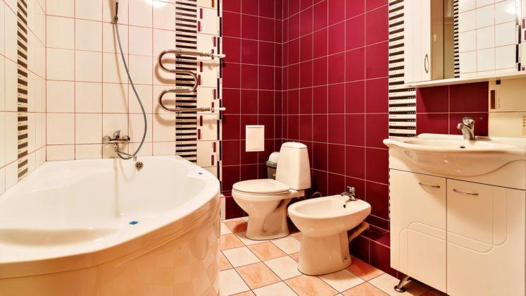 Ванная комната с оригинальным дизайном