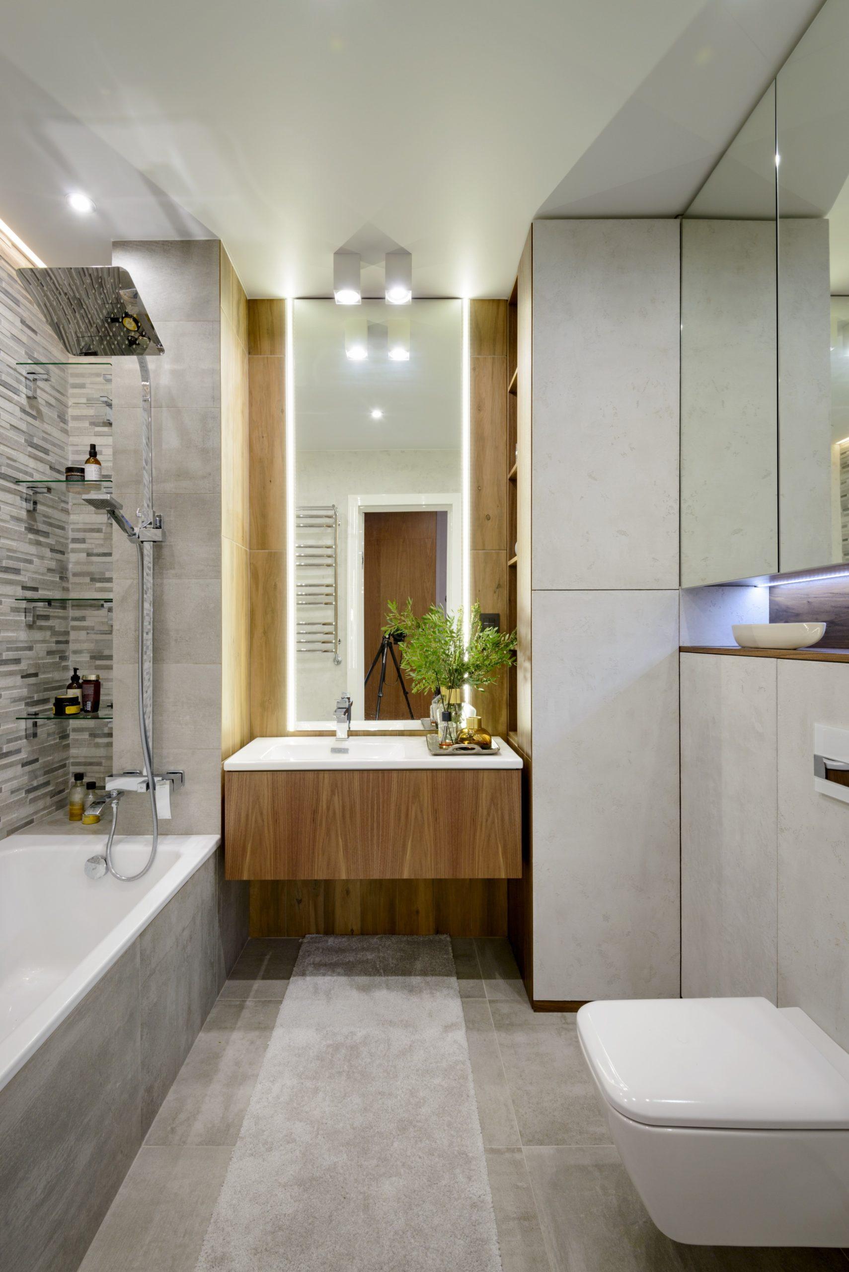 Точеченое освещение в ванной комнате