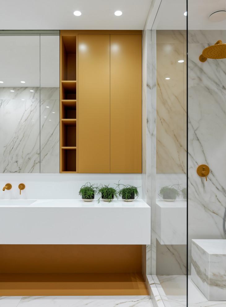 Освещение в ванной комнате в современном стиле