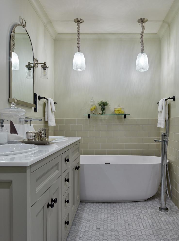 Освещение в ванной комнате с помощью светильников